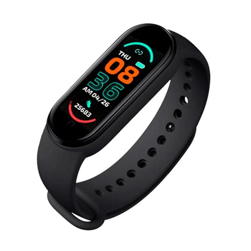 Ρολόι Fitness Tracker με Πιεσόμετρο και Μετρητή Καρδιακών Παλμών Smart Band M6 Χρώματος Μαύρο SPM M6-MAGN-Black - M6-MAGN-Black