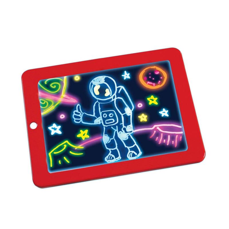 Μαγικός Φωτεινός Πίνακας Ζωγραφικής SPM 3DX9-Red - 3DX9-Red