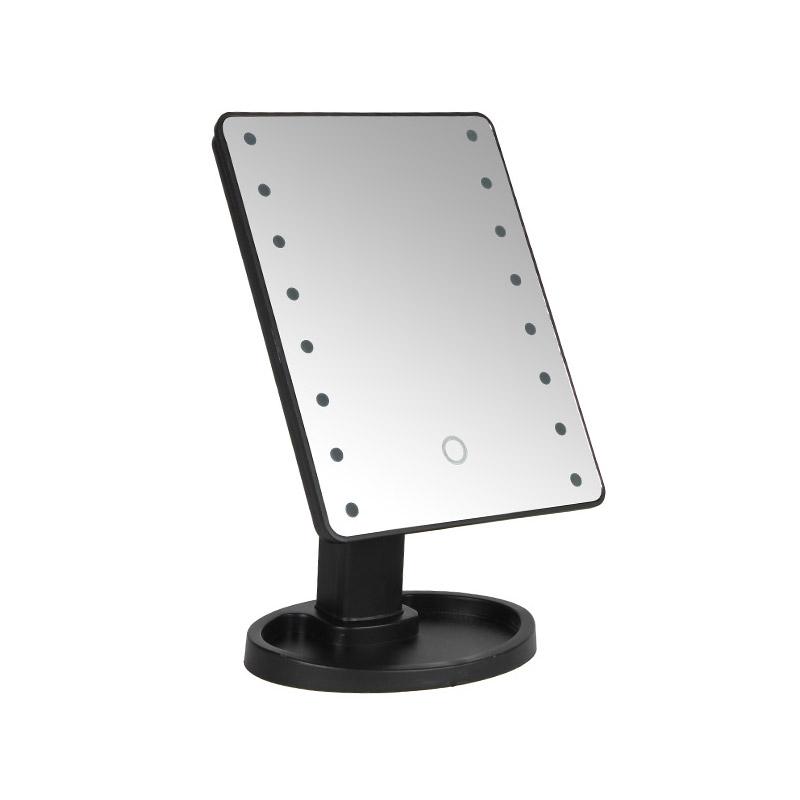 Επιτραπέζιος Καθρέπτης με Led Φωτισμό και Κουμπί Αφής SPM L16-Black - L16-Black