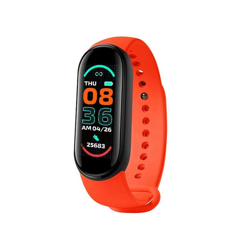 Ρολόι Fitness Tracker με Πιεσόμετρο και Μετρητή Καρδιακών Παλμών Smart Band M6 Χρώματος Κόκκινο SPM M6-MAGN-Red - M6-MAGN-Red