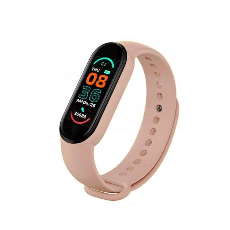 Ρολόι Fitness Tracker με Πιεσόμετρο και Μετρητή Καρδιακών Παλμών Smart Band M6 Χρώματος Ροζ SPM M6-MAGN-Pink - M6-MAGN-Pink