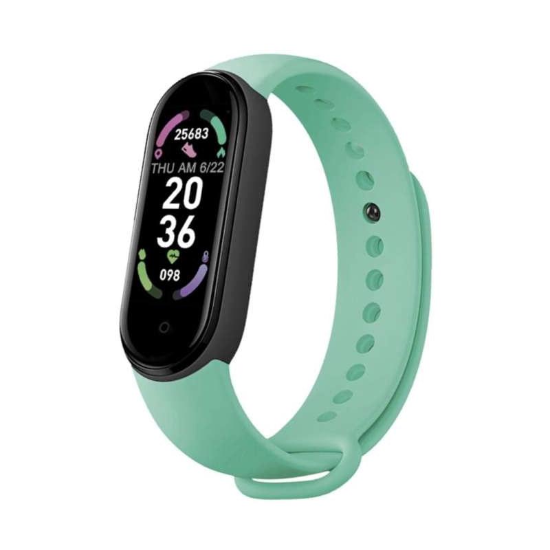 Ρολόι Fitness Tracker με Πιεσόμετρο και Μετρητή Καρδιακών Παλμών Smart Band M6 Χρώματος Πράσινο SPM M6-MAGN-Green - M6-MAGN-Green