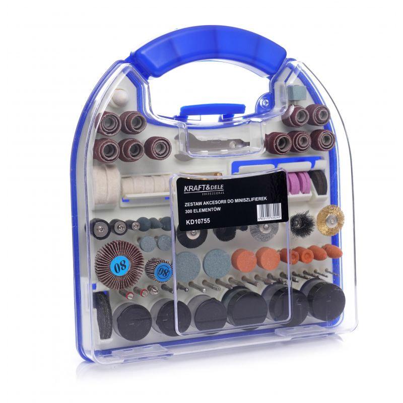 Σετ Αξεσουάρ για Mini Λειαντήρα σε Κασετίνα 300 τμχ Kraft&Dele KD-10755 - KD-10755