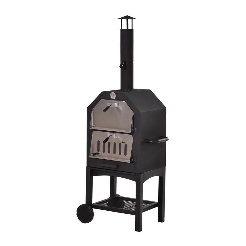 Φούρνος Πίτσας Εξωτερικού Χώρου με Κάρβουνο 50 x 36 x 160 cm Outsunny 846-051 - 846-051