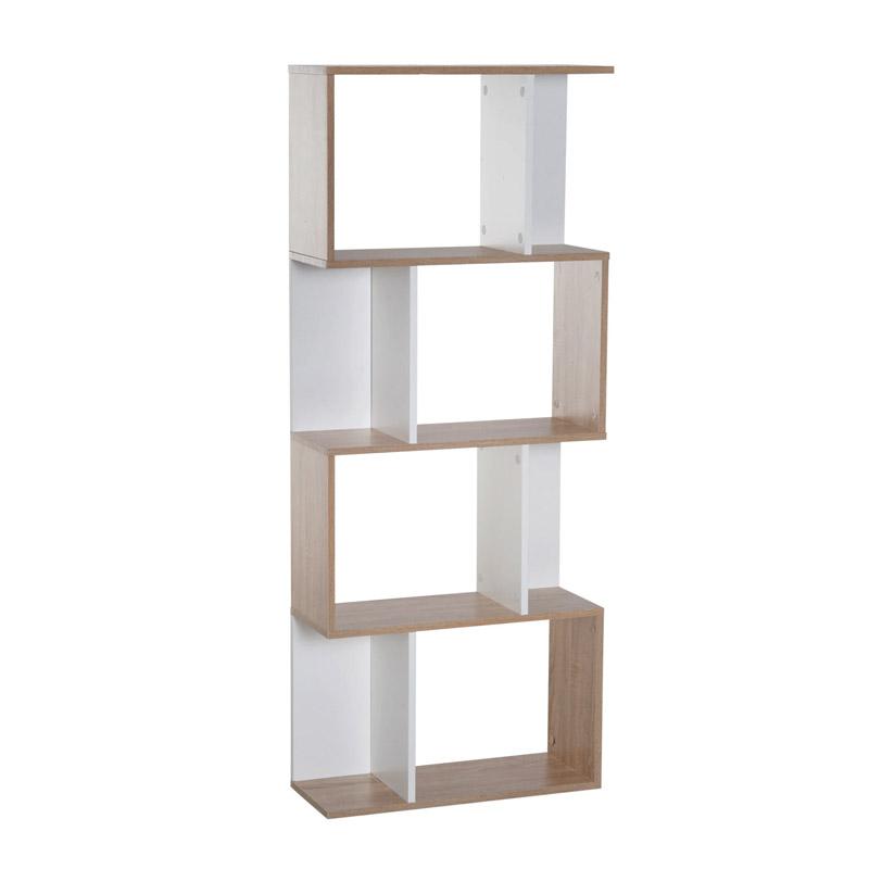 Ξύλινη Βιβλιοθήκη με 4 Ράφια 60 x 24 x 148 cm Χρώματος Λευκό HOMCOM 833-451 - 833-451