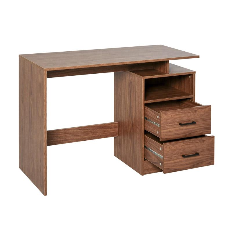 Ξύλινο Γραφείο με 1 Ράφι και 2 Συρτάρια 107 x 48 x 76.2 cm HOMCOM 836-294 - 836-294