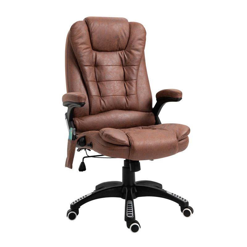 Ανακλινόμενη Καρέκλα Γραφείου Μασάζ 6 Σημείων με Τηλεχειριστήριο 66 x 73 x 112-121 cm Vinsetto 921-171V71BN - HOMCOM 921-171V71BN