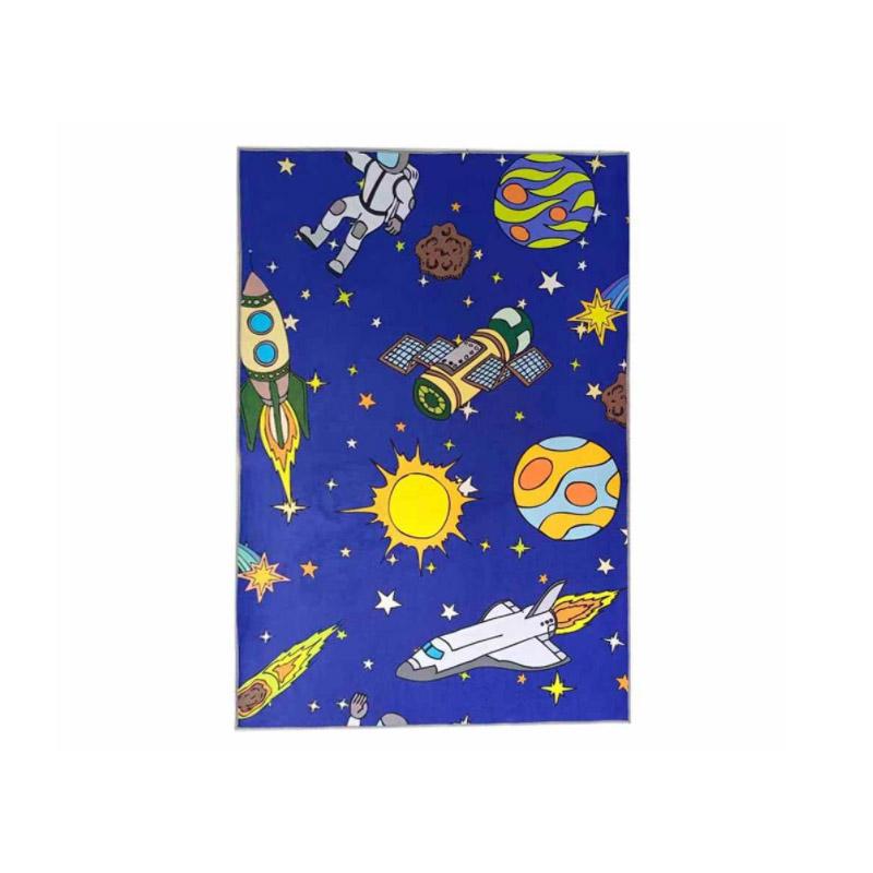 Παιδικό Χαλί με Μοτίβο Διαστήματος 130 x 180 cm Hoppline HOP1001235-4 - HOP1001235-4