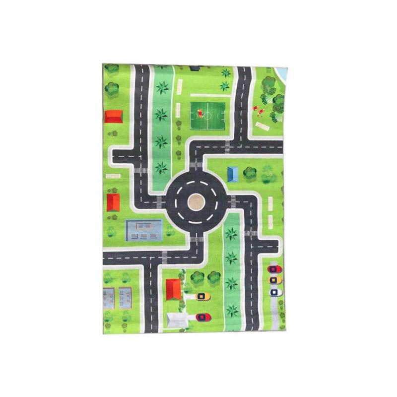 Παιδικό Χαλί με Μοτίβο Πόλης 130 x 180 cm Hoppline HOP1001235-2 - HOP1001235-2