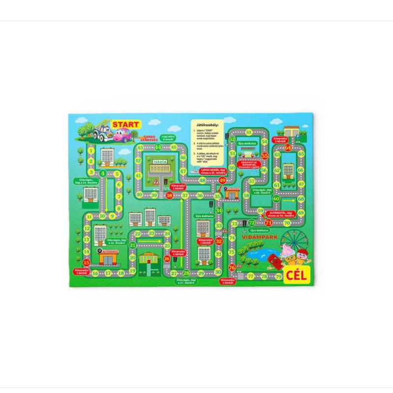 Παιδικό Χαλί με Μοτίβο Επιτραπέζιο Παιχνίδι 130 x 180 cm Hoppline HOP1001235-5 - HOP1001235-5