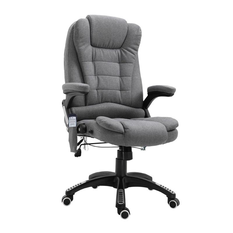 Καρέκλα Γραφείου Μασάζ 7 Σημείων με Τηλεχειριστήριο Χρώματος Σκούρο Γκρι Vinsetto 921-171V70GY - 921-171V70GY