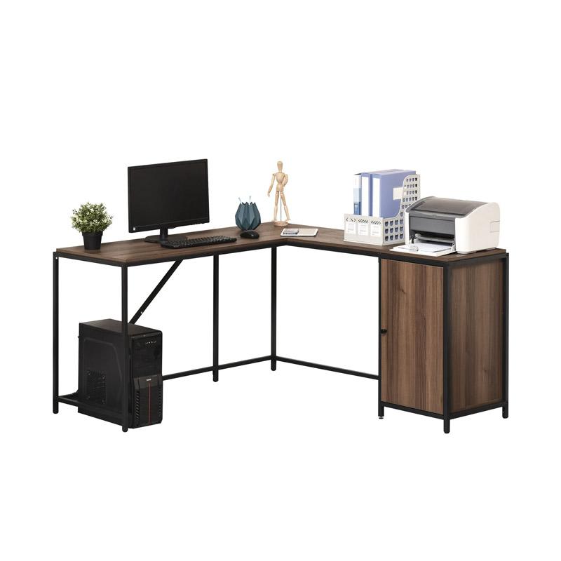 Μεταλλικό Γωνιακό Γραφείο με 1 Ντουλάπι 152 x 142 x 76.5 cm HOMCOM 836-307 - 836-307