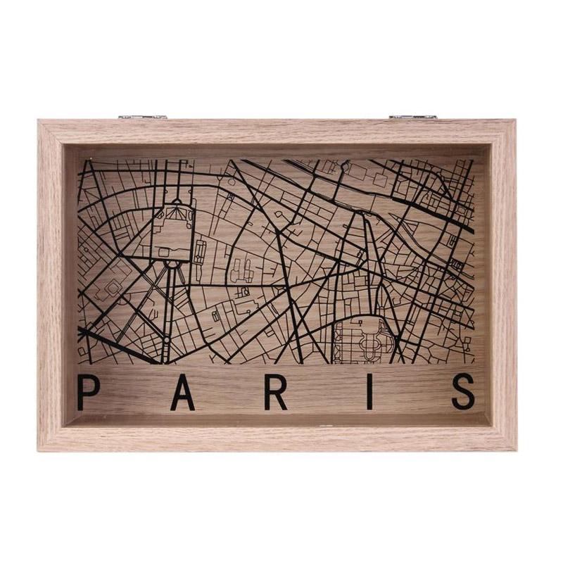 Ξύλινο Κουτί Αποθήκευσης 24 x 16.5 x 6 cm PARIS Home Deco Factory HD2183-PARIS - HD2183-PARIS