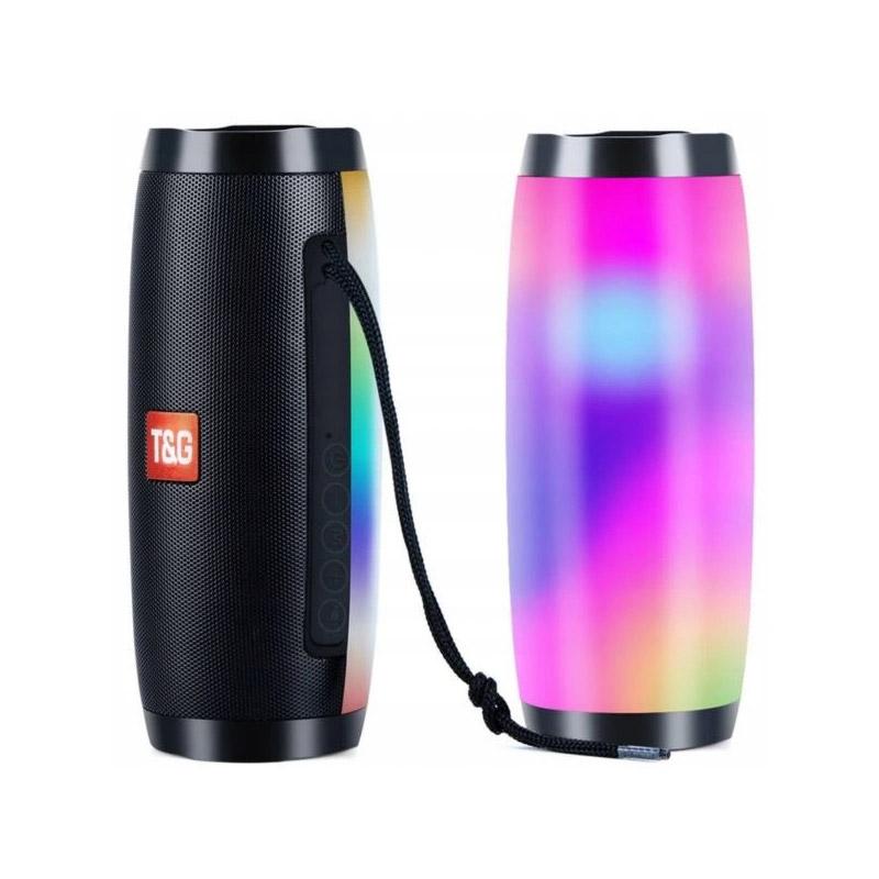 Φορητό Ασύρματο Ηχείο Bluetooth με LED Φωτισμό T&G TG157-Black - TG157-Black