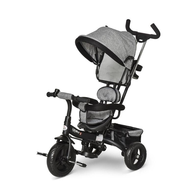 Τρίκυκλο Παιδικό Ποδήλατο - Καρότσι HOMCOM 370-026GY - 370-026GY