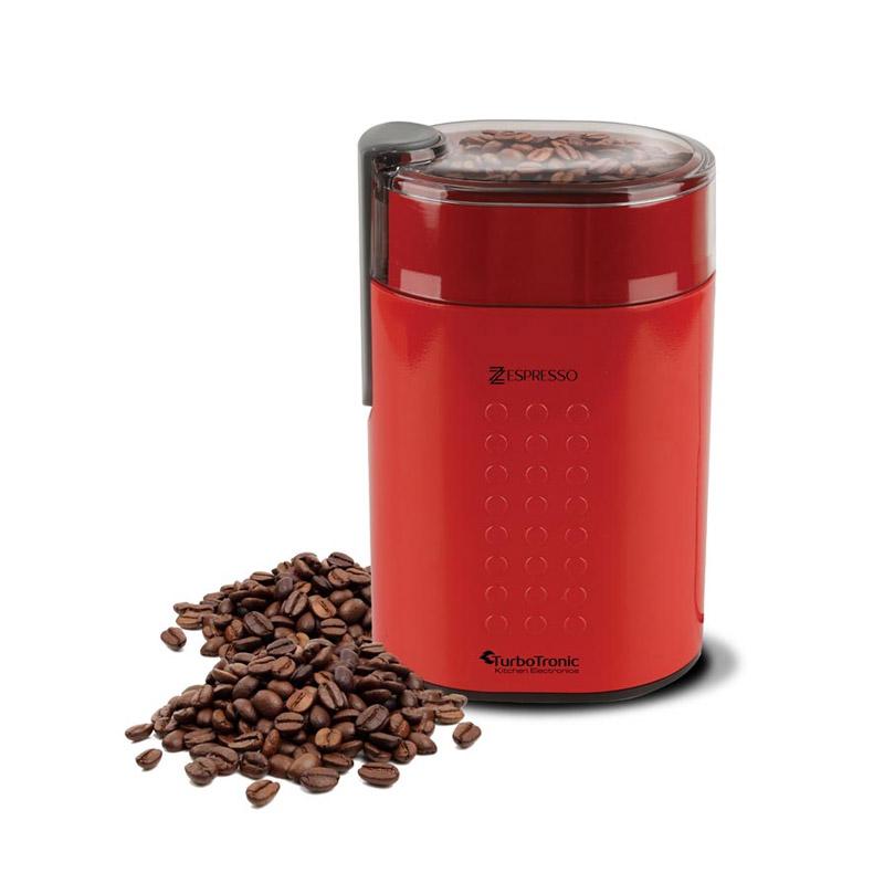 Ηλεκτρικός Μύλος Άλεσης Καφέ και Μπαχαρικών 200 W Χρώματος Κόκκινο ZEspresso Turbotronic TT-CG5 Red - TT-CG5 Red