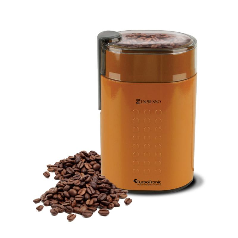 Ηλεκτρικός Μύλος Άλεσης Καφέ και Μπαχαρικών 200 W Χρώματος Πορτοκαλί ZEspresso Turbotronic TT-CG5 Orange - TT-CG5 Orange