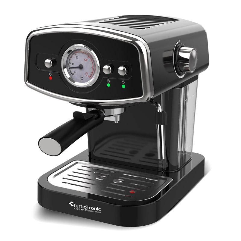 Καφετιέρα Espresso 19 Bar ZEspresso Χρώματος Μαύρο TurboTronic TT-CM22 Black - Turbotronic TT-CM22 Black
