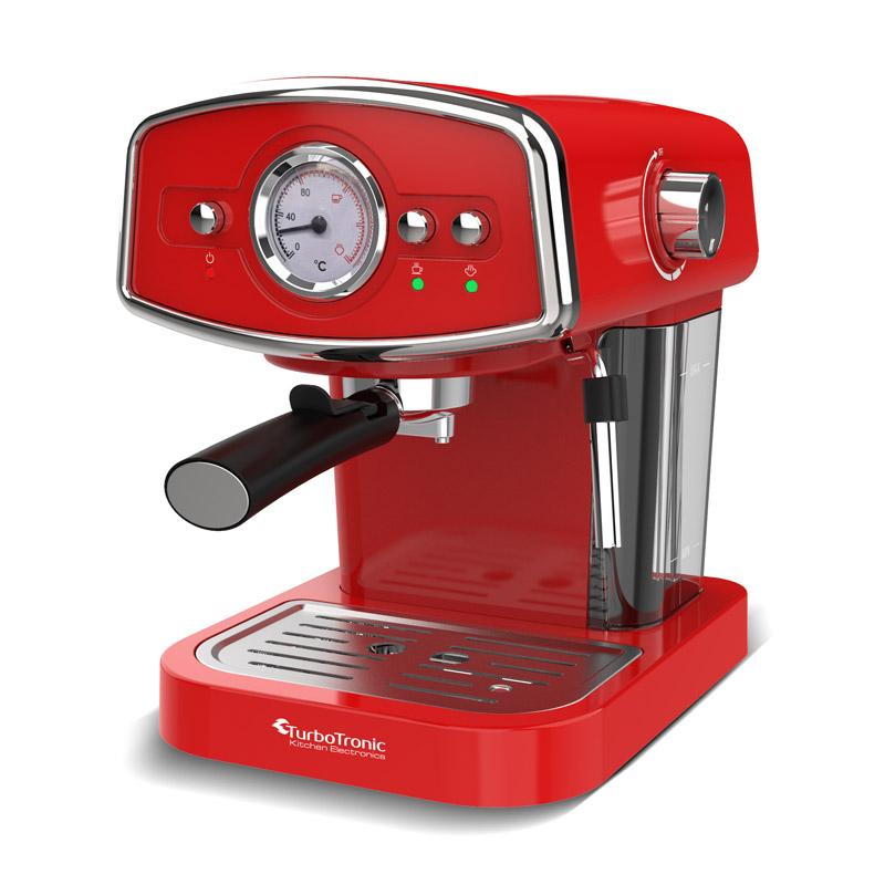 Καφετιέρα Espresso 19 Bar ZEspresso Χρώματος Κόκκινο TurboTronic TT-CM22 Red - Turbotronic TT-CM22 Red