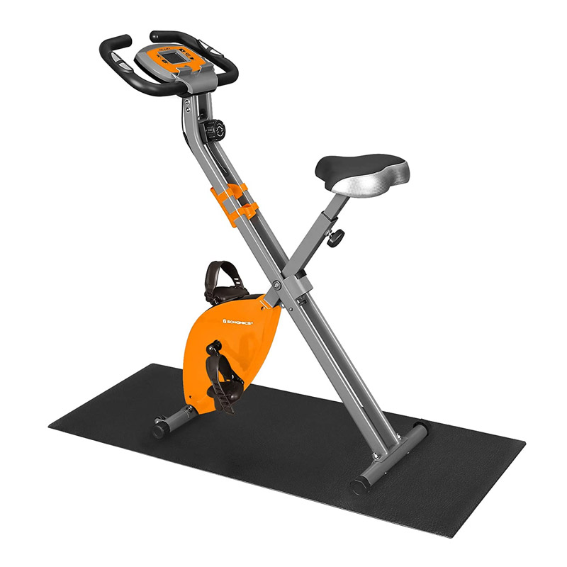 Αναδιπλούμενο Μαγνητικό Ποδήλατο Γυμναστικής με Χαλάκι Δαπέδου Songmics SXB11OG - SXB11OG