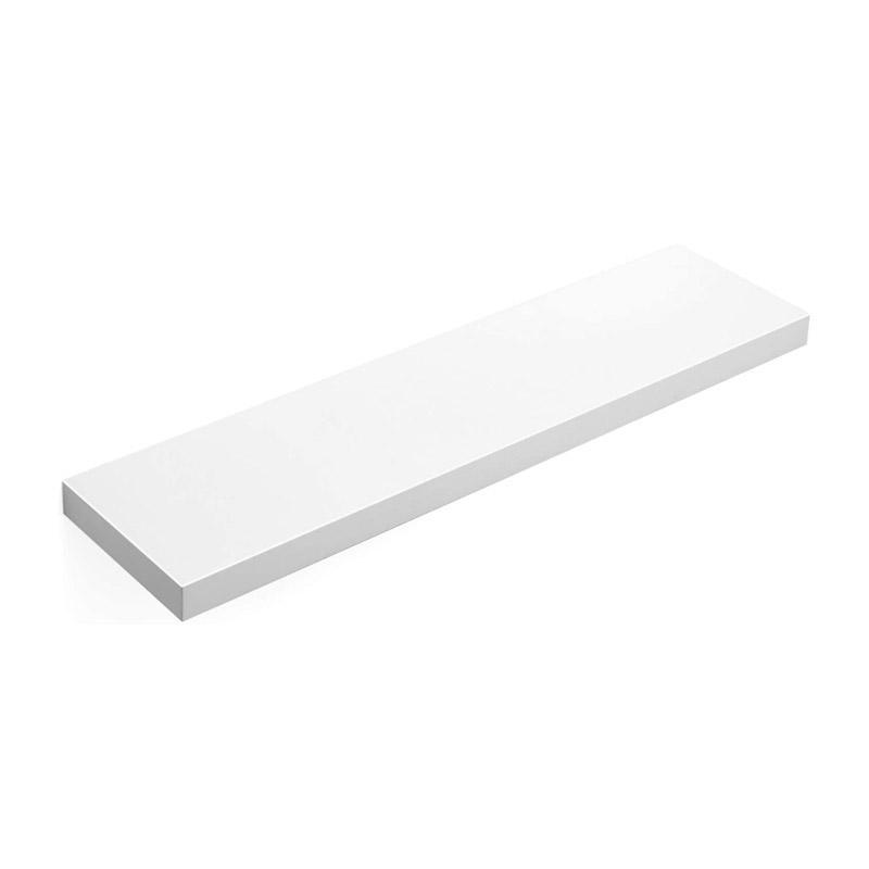 Επιτοίχιο Ξύλινο Ράφι 80 x 20 x 3.8 cm Χρώματος Λευκό VASAGLE LWS28WT - LWS28WT