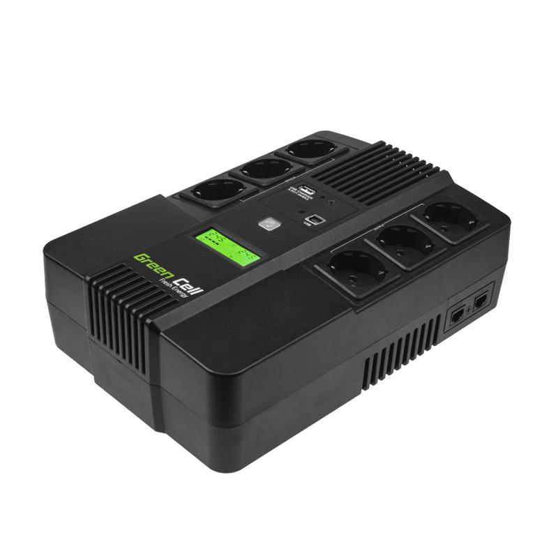 UPS με 6 Schuko Πρίζες 800 VA 480 W AiO Green Cell UPS07 - UPS07