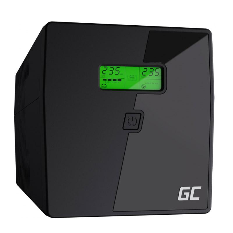 UPS με 2 Schuko Πρίζες και 3 IEC 2000 VA 1400 W Green Cell UPS09 - UPS09