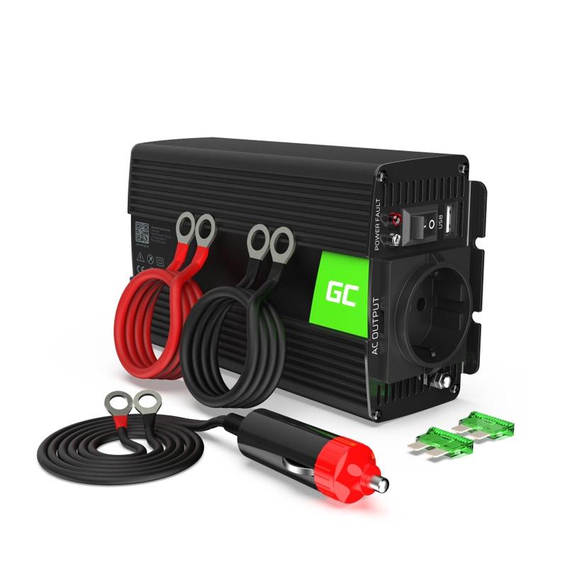 Μετατροπέας - Inverter Ισχύος Αυτοκινήτου 24 V σε 230 V 500 / 1000 W Green Cell INV04DE - INV04DE