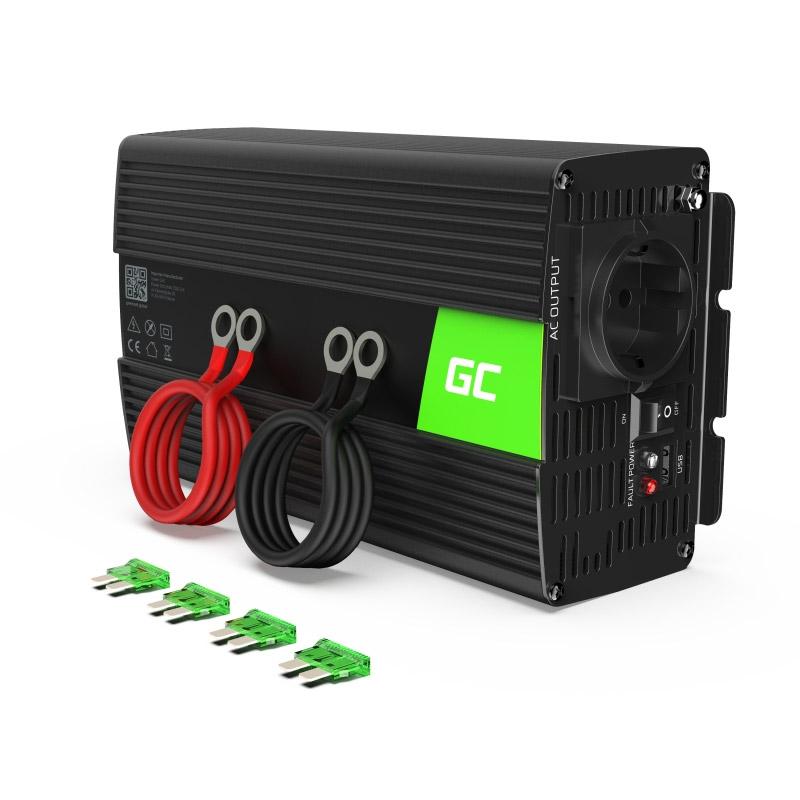 Μετατροπέας - Inverter Ισχύος Αυτοκινήτου 24 V σε 230 V 1000 / 2000 W Green Cell INV23 - INV23
