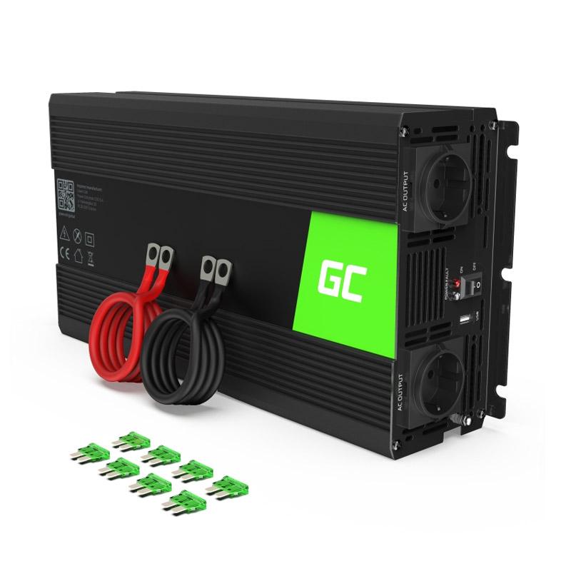 Μετατροπέας - Inverter Ισχύος Αυτοκινήτου 24 V σε 230 V 1500 / 3000 W Green Cell INV24 - INV24