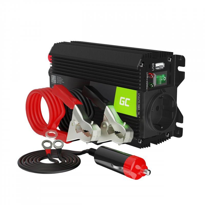 Μετατροπέας - Inverter Ισχύος Αυτοκινήτου 12 V σε 230 V 300 / 600 W Pro Green Cell INVGC01 - INVGC01