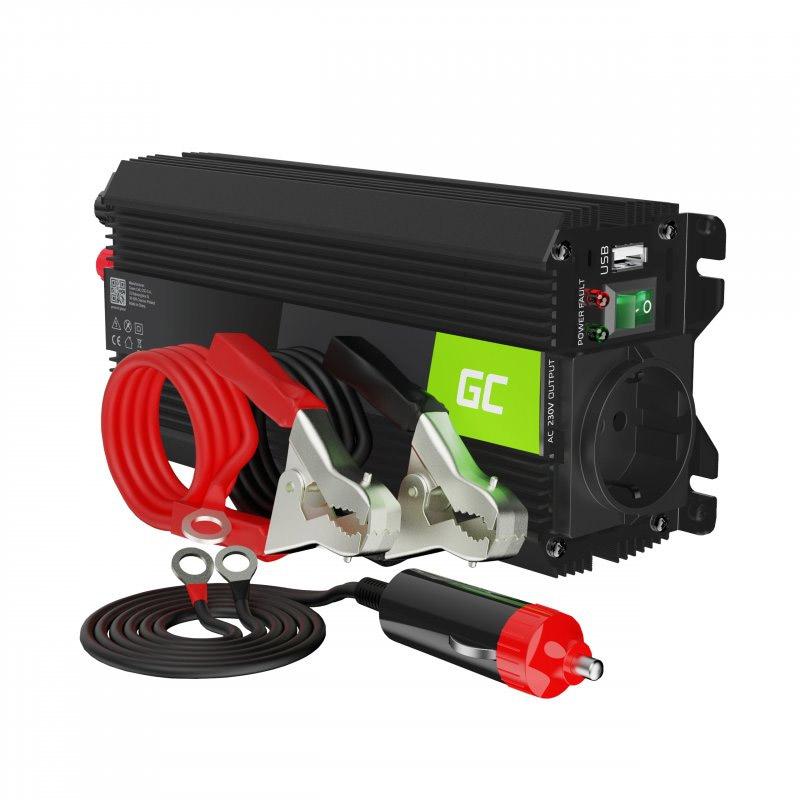 Μετατροπέας - Inverter Ισχύος Αυτοκινήτου 12 V σε 230 V 500 / 1000 W Pro Green Cell INVGC03 - INVGC03