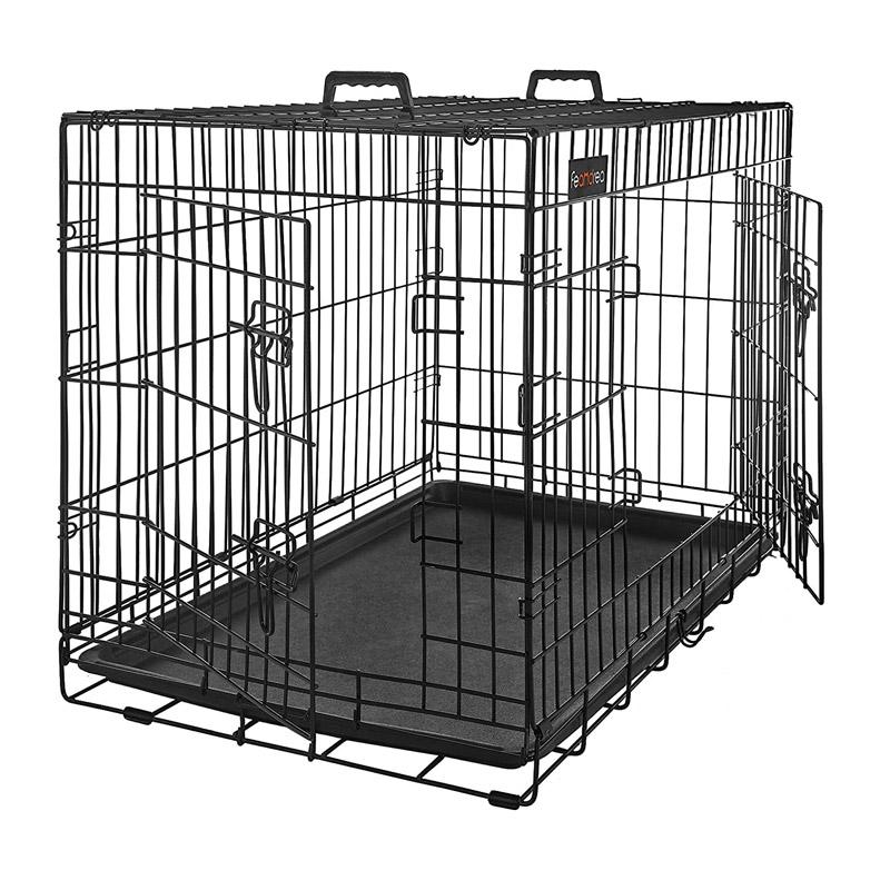 Αναδιπλούμενο Μεταλλικό Κλουβί για Κατοικίδια με 2 Πόρτες 91 x 58 x 64 cm Feandrea PPD36H - PPD36H
