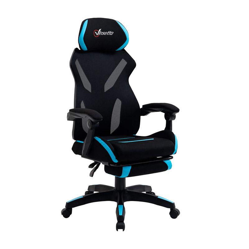 Καρέκλα Gaming με Υποπόδιο 65 x 65 x 119-129 cm Vinsetto 921-516BU - 921-516BU
