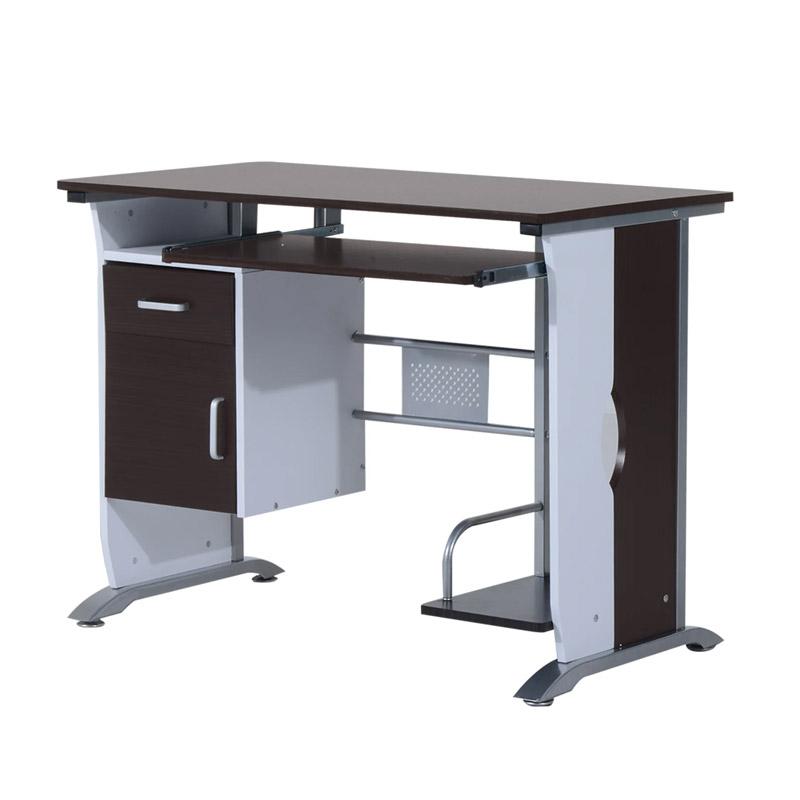 Μεταλλικό Γραφείο με Θέση για Υπολογιστή 100 x 52 x 75 cm HOMCOM 920-019 - 920-019