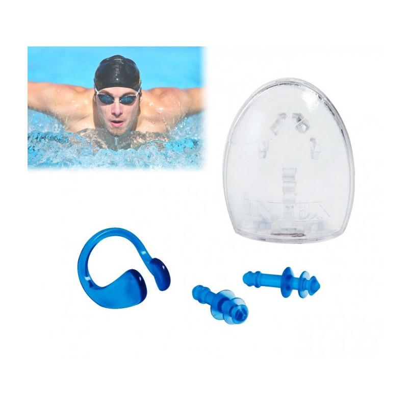 Σετ Ωτασπίδες και Σφιγκτήρας Μύτης για Κολύμβηση Intex MWS3918 - MWS3918