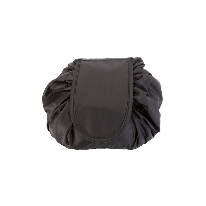 Αναδιπλούμενη Τσάντα Καλλυντικών με Κορδόνι Χρώματος Μαύρο SPM VL3152 - General VL3152