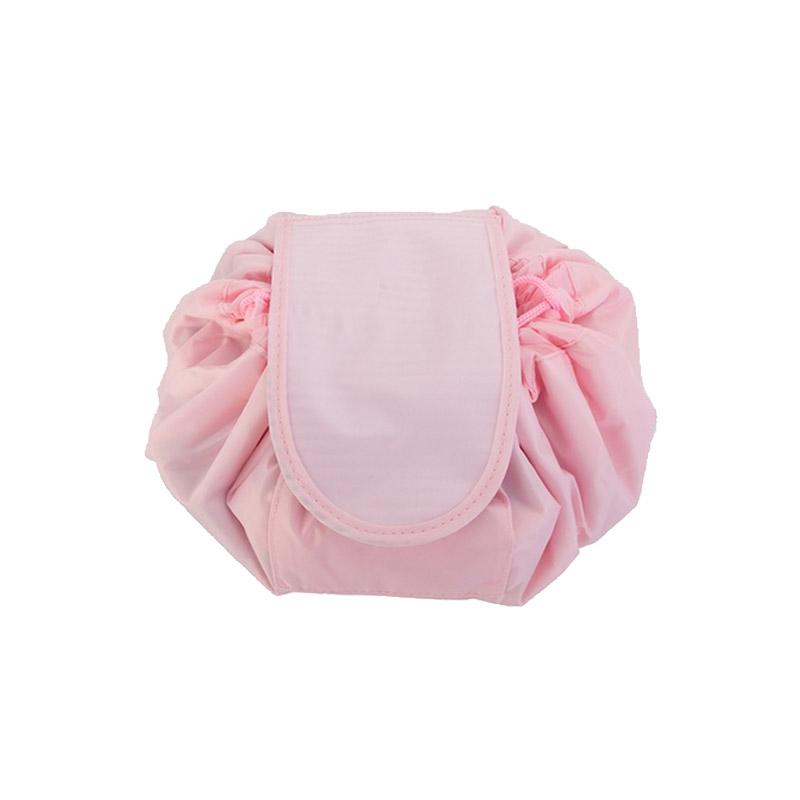 Αναδιπλούμενη Τσάντα Καλλυντικών με Κορδόνι Χρώματος Ροζ SPM VL3155 - General VL3155