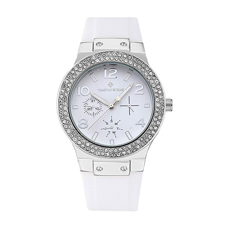 Γυναικείο Ρολόι με Λευκό Λουράκι Σιλικόνης Timothy Stone Falcon Sport F-016-SLWH - F-016-SLWH