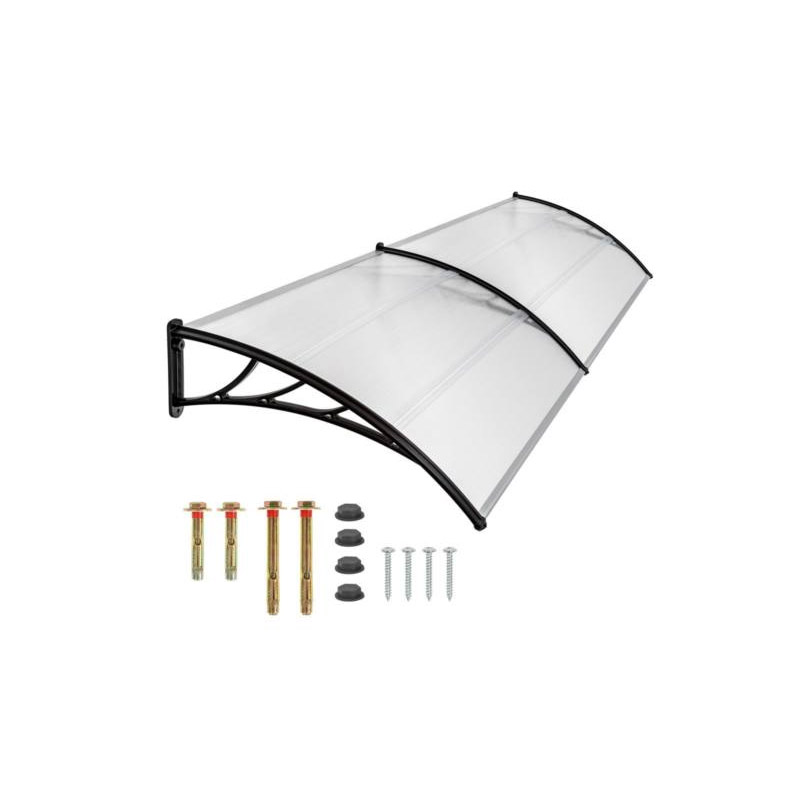Διπλό Πλαστικό Κιόσκι - Τέντα Πόρτας Εισόδου 240 x 90 cm Hoppline HOP1000696-4 - General HOP1000696-4