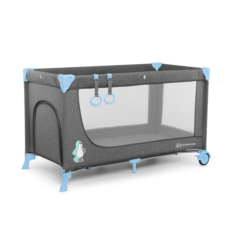 Βρεφικό Φορητό Κρεβάτι Χρώματος Μπλε KinderKraft Joy