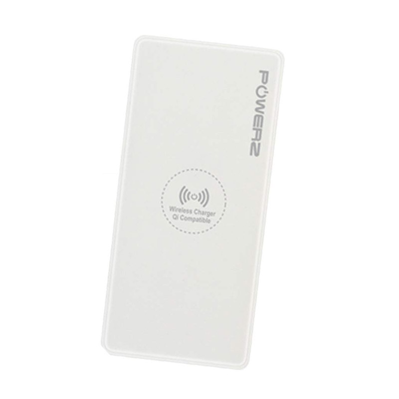 Power Bank 10000mAh Ασύρματης Φόρτισης με 2 Θύρες USB Χρώματος Λευκό PowerZ R167404 - Powerz R167404