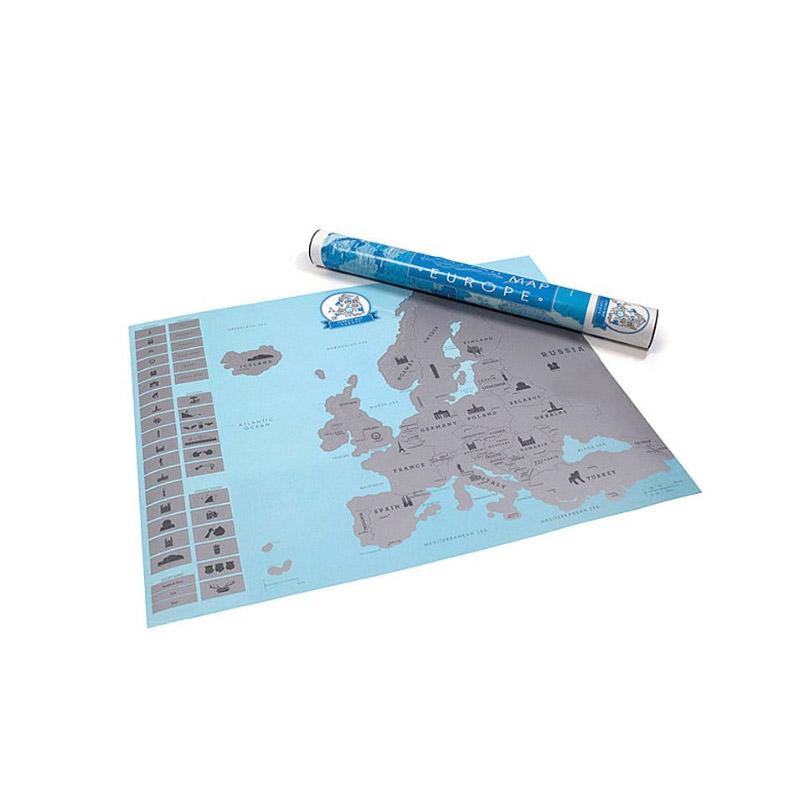 Ευρωπαϊκός Χάρτης Ξυστό 57.4 x 43.1 cm  Hoppline HOP1000729 - HOP1000729