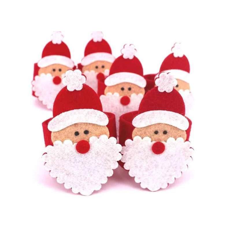 Σετ Χριστουγεννιάτικα Δαχτυλίδια Πετσέτας Φαγητού 4 τμχ Santa Claus SPM DYN-FaceNapRing - DYN-FaceNapRing