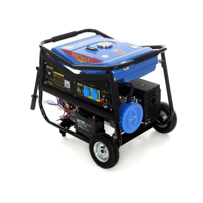 Φορητή Μονοφασική Ηλεκτρογεννήτρια Βενζίνης 5000 W 12/230 V Kraft&Dele KD-145 - KD-145