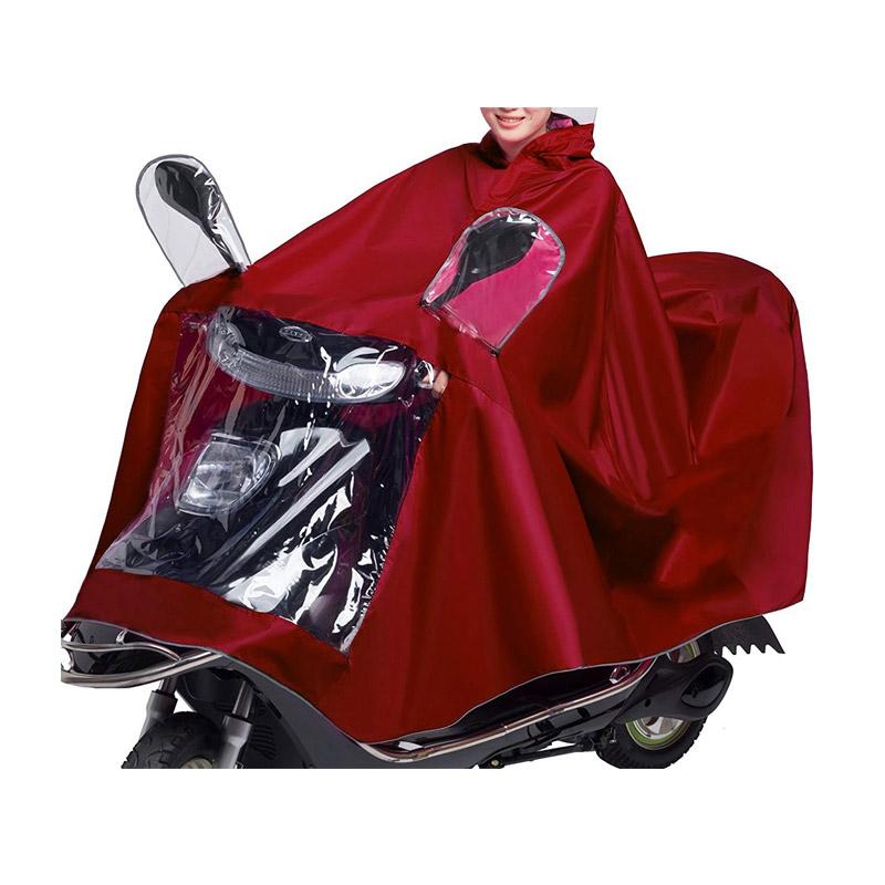 Ενισχυμένο Προστατευτικό Αδιάβροχο Κάλυμμα Μηχανής - Αναβάτη Χρώματος Κόκκινο MWS1041 - Media Wave MWS1041-red