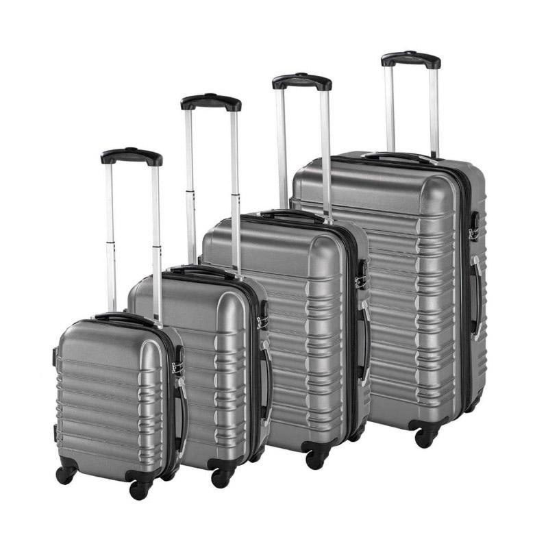 Σετ 4 Βαλίτσες Καμπίνας με 4 Ρόδες Σκληρές από ABS Χρώματος Γκρι Hoppline HOP1000938-2 - HOP1000938-2