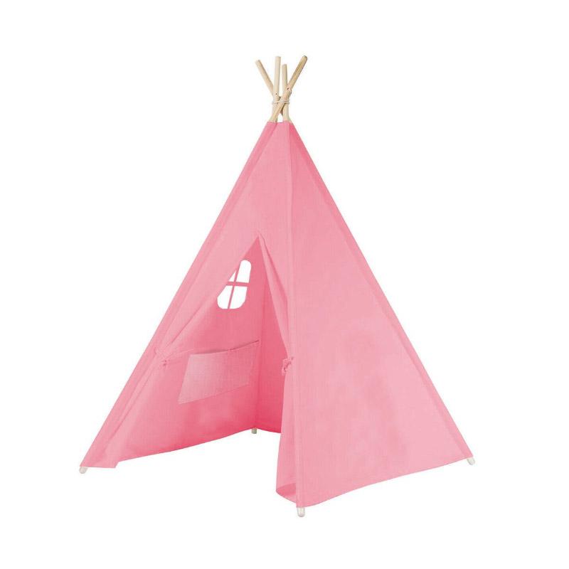 Παιδική Ινδιάνικη Σκηνή 150 x 155 x 130 cm Χρώματος Ροζ Hoppline HOP1000941-2 - HOP1000941-2