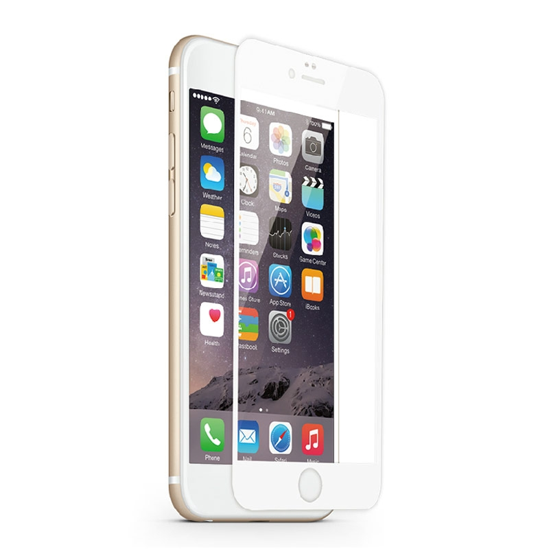 Tempered Glass 9H 0.3mm Τζαμάκι Γυαλί Προστασίας iPhone 7 White 3D Full Cover