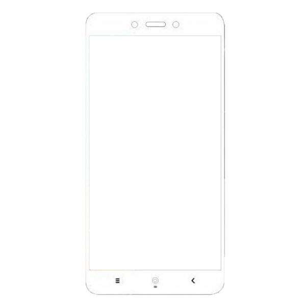 3D Full Cover Tempered Glass Τζαμάκι Γυαλί Προστασίας Xiaomi Redmi 4a White